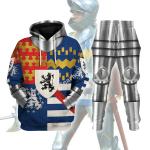 Gearhomies Tracksuit Hoodies Pullover Sweatshirt Sir Francis Lovell 1st Viscount Lovell Historical 3D Apparel