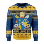 Merry Christmas Gearhomies Unisex Christmas Sweater Pius VII Coat of Arms