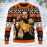 Merry Christmas Gearhomies Unisex Ugly Christmas Sweater Leo Pointing Meme 3D Apparel