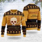 Merry Christmas Gearhomies Unisex Ugly Christmas Sweater Hamlet William Shakespare 3D Apparel