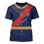 Gearhomies Unisex T-Shirt King Ludwig II of Bayern 3D Apparel