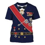 Gearhomies Unisex T-Shirt Miklos Horthy 3D Apparel