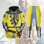 Gearhomies Tracksuit Hoodies Pullover Sweatshirt Louis I Count of Flander Historical 3D Apparel