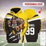 Gearhomies Personalized Unisex Tracksuit Hoodies Pittsburgh Steelers Football Team 3D Apparel