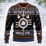 Merry Christmas Gearhomies Unisex Ugly Christmas Sweater Not Kill Me Should Run Viking Mythology 3D Apparel