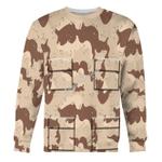 Gearhomies Unisex Sweatshirt The Gulf War The Citadel Desert 3D Apparel