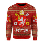 Merry Christmas Gearhomies Unisex Christmas Sweater Pope Leo XII Coat of Arms 3D Apparel