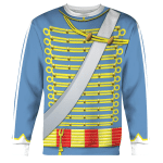 Gearhomies Unisex Sweatshirt Napoleonic of the French Hussars 3D Apparel