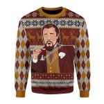 Merry Christmas Gearhomies Unisex Christmas Sweater Leo Laughing Meme Merry Christmas 3D Apparel