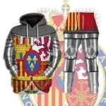 Gearhomies Tracksuit Hoodies Pullover Sweatshirt Coat Of Arms Of Spain Historical 3D Apparel