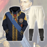 Gearhomies Tracksuit Hoodies Pullover Sweatshirt Charles XIV John of Sweden Marshal General in Napoleic War Historical 3D Apparel