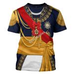 Gearhomies Unisex T-Shirt Louis Nicolas d'Avout 3D Apparel