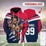Gearhomies Personalized Unisex Tracksuit Hoodies NFL New England Patriots Football Team 3D Apparel