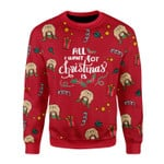 Merry Christmas Gearhomies Unisex Christmas Sweater All I Want For Christmas Is You Elf Butt 3D Apparel