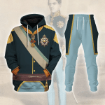 Gearhomies Tracksuit Hoodies Pullover Sweatshirt Pedro V of Portugal Historical 3D Apparel