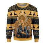 Gearhomies Unisex Sweatshirt St. Archangel Gabriel 3D Apparel