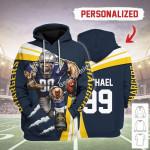 Gearhomies Personalized Unisex Tracksuit Hoodies Los Angeles Chargers Football Team 3D Apparel