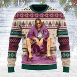 Merry Christmas Gearhomies Unisex Ugly Christmas Sweater The Big Lebowski Inspired Bathroom 3D Apparel