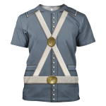 Gearhomies Unisex T-Shirt Mexican War US Army 3D Apparel
