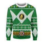 Merry Christmas Gearhomies Unisex Christmas Sweater Green Power Ranger