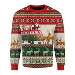 Merry Christmas Gearhomies Unisex Christmas Sweater Santa With Horror Characters