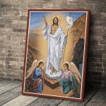 Gearhomies Canvas Jesus Christ Victorious Resurrection