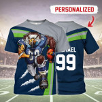 Gearhomies Personalized Unisex T-Shirt Seattle Seahawks Football Team 3D Apparel