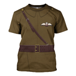 Gearhomies Unisex T-Shirt WWI British Royal Flying Corps 3D Apparel