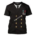 Gearhomies Unisex T-Shirt Titanic Captain Edward John Smith 3D Apparel