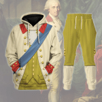 Gearhomies Tracksuit Hoodies Pullover Sweatshirt Frederick Augustus I of Saxony Historical 3D Apparel