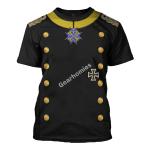 Gearhomies Unisex T-Shirt Otto Von Bismarck 3D Apparel
