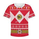 Gearhomies Red Power Rangers Kid T-Shirt