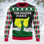 Merry Christmas Gearhomies Unisex Ugly Christmas Sweater The Master Is Back 3D Apparel
