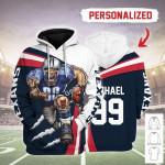 Gearhomies Personalized Unisex Tracksuit Hoodies Houston Texans Football Team 3D Apparel