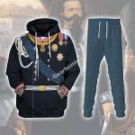 Gearhomies Tracksuit Hoodies Pullover Sweatshirt Victor Emmanuel II - King of Italy Historical 3D Apparel
