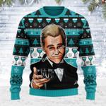Merry Christmas Gearhomies Unisex Ugly Christmas Sweater  Leo Wine Glass Meme 3D Apparel