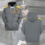 Gearhomies Tracksuit Hoodies Pullover Sweatshirt Erich Ludendorff Historical 3D Apparel