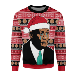 Merry Christmas Gearhomies Unisex Christmas Sweater The Crying MJ 3D Apparel
