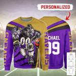 Gearhomies Personalized Unisex Sweatshirt Baltimore Ravens Football Team 3D Apparel