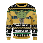 Merry Christmas Gearhomies Unisex Christmas Sweater Yoda Best Custom Profession
