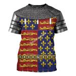 Gearhomies Unisex T-Shirt Edward The Black Prince Armor  3D Apparel
