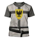 Gearhomies Unisex T-Shirt Teutonic Knights 3D Apparel