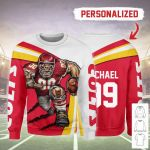 Gearhomies Personalized Unisex Sweatshirt Kansas City Chiefs Football Team 3D Apparel