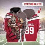 Gearhomies Personalized Unisex Tracksuit Hoodies Tampa Bay Buccaneers Football Team 3D Apparel