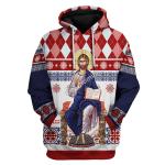 Gearhomies Unisex Hoodie Jesus Evlogon Greek Byzantine Orthodox 3D Apparel
