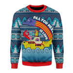 Merry Christmas Gearhomies Unisex Christmas Sweater All You Need Is Love 3D Apparel
