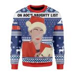 Merry Christmas Gearhomies Unisex Christmas Sweater On AOC's Naughty List