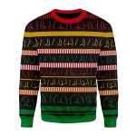 Merry Christmas Gearhomies Unisex Christmas Sweater Butts Wall 3D Apparel