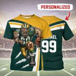 Gearhomies Personalized Unisex T-Shirt Green Bay Packers Football Team 3D Apparel