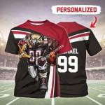 Gearhomies Personalized Unisex T-Shirt Atlanta Falcons Football Team 3D Apparel
